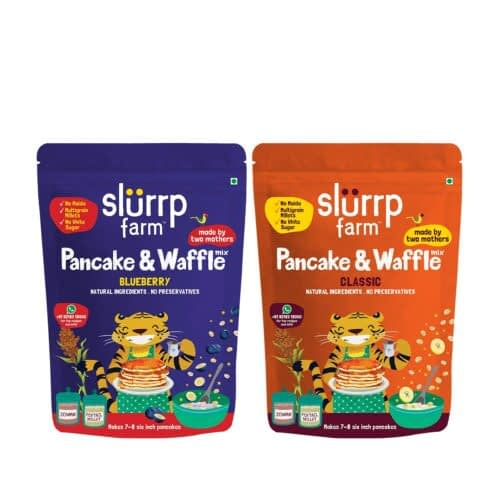 Amazon Deal – Slurrp Farm Millet Pancake Mix Combo Blueberry & Classic | No Maida, Wheat & Refined White Sugar | Supergrain Millets Rich in Nutrients | 150G Each @ 157RS post thumbnail image
